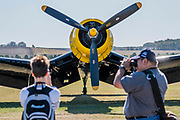 A Goodyear FG-1D Corsair - Duxford Battle of Britain Air Show at the Imperial War Museum. Also commemorating the 50th anniversary of the 1969 Battle of Britain film. It runs on Saturday 21 & Sunday 22 September 2019