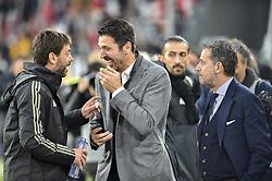 May 19, 2019 - Turin, Turin, Italy - Gianluigi Buffon, Andrea Agnelli, Fabio Paratici of Juventus FC during the Serie A match at Allianz Stadium, Turin (Credit Image: © Antonio Polia/Pacific Press via ZUMA Wire)