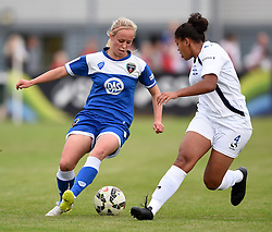 Nadia Lawrence of Bristol Academy Women  competes with Jessica Carter of Birmingham City Ladies - Mandatory by-line: Paul Knight/JMP - Mobile: 07966 386802 - 29/08/2015 -  FOOTBALL - Stoke Gifford Stadium - Bristol, England -  Bristol Academy Women v Birmingham City Ladies FC - FA WSL Continental Tyres Cup