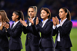 November 2, 2018 - Paris, Ile-de-France, France - The Paris Saint Germain women's team  celebrate the title during the french Ligue 1 match between Paris Saint-Germain (PSG) and Lille (LOSC) at Parc des Princes stadium on November 2, 2018 in Paris, France. (Credit Image: © Julien Mattia/NurPhoto via ZUMA Press)