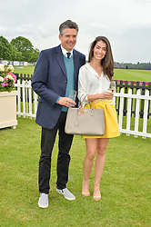 EDWARD TAYLOR and MANUELA LONDONO at the Cartier Queen's Cup Final 2016 held at Guards Polo Club, Smiths Lawn, Windsor Great Park, Egham, Surry on 11th June 2016.