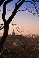 Looking across to the White Pagada from Jingshan Park behind the Forbidden City in Beijing.