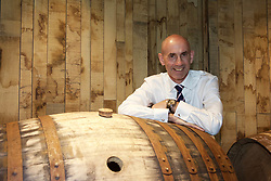 EMBARGOED: 00.01 TUE 22052018. Ian Curle, chief executive of Edrington Group, owner of The Macallan, with sherry casks in the new distillery on the Easter Elchies Estate, Speyside. Pic copyright Terry Murden EMBARGOED: 00.01 TUE 22052018@edinburghelitemedia