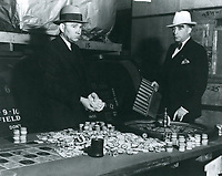 1936 Police raid for gambling at the Clover Club on Sunset Blvd. in West Hollywood