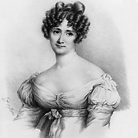 Sophie Gay (Marie Francoise Sophie Nichault de La Valette, 1776-1852), femme de lettres, gravure vers 1840   --- Sophie Gay (Marie Francoise Sophie Nichault de La Valette, 1776-1852) woman writer, engraving, c. 1840<br /> <br /> Copyright Rue Des Archives/Writer Pictures<br /> <br /> NO FRANCE, NO AGENCY SALES