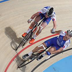 18-12-2016: Wielrennen: NK baanwielrennen: Apeldoorn  <br />APELDOORN (NED) wielrennen <br />Jeff Vermeulen en Dion Beukeboom pakken de bronzen medaille op het Nederlands Kampioenschap koppelkoers