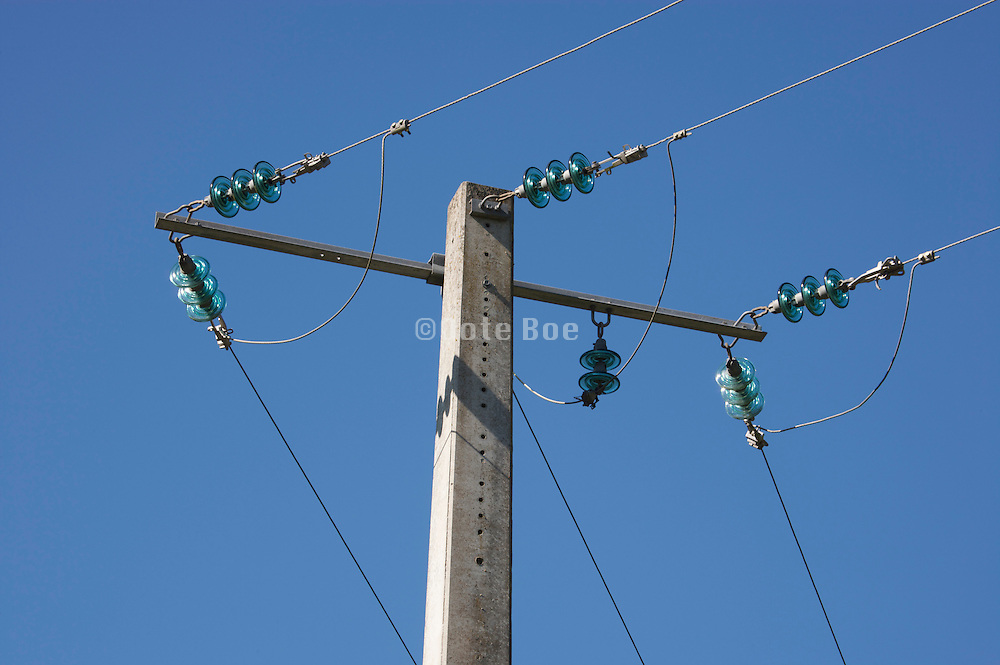 above ground electrical wires