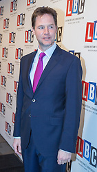 © Licensed to London News Pictures . 26/03/2014 . London , UK . NICK CLEGG arrives . Liberal Democrat leader and Deputy Prime Minister , Nick Clegg and UKIP leader Nigel Farage , hold the first of two head to head debates on Britain's future in Europe , hosted by LBC Radio , at 8 Northumberland Avenue in London . Photo credit : Joel Goodman/LNP