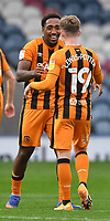 Hull City's Josh Magennis celebrates scoring his team's 3rd goal<br /> <br /> Photographer Dave Howarth/CameraSport<br /> <br /> The EFL Sky Bet League One - Rochdale v Hull City - Saturday 17th October 2020 - Spotland Stadium - Rochdale<br /> <br /> World Copyright © 2020 CameraSport. All rights reserved. 43 Linden Ave. Countesthorpe. Leicester. England. LE8 5PG - Tel: +44 (0) 116 277 4147 - admin@camerasport.com - www.camerasport.com