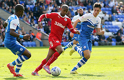 Peterborough United's Joe Newell pressures Crawley's Lewis Young - Photo mandatory by-line: Joe Dent/JMP - Mobile: 07966 386802 - 25/04/2015 - SPORT - Football - Peterborough - ABAX Stadium - Peterborough United v Crawley Town - Sky Bet League One