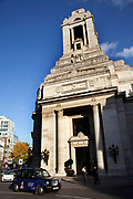Freemasons' Hall in London, UK is the headquarters of the United Grand Lodge of England and a meeting place for the Masonic Lodges in the London area. It is in Great Queen Street between Holborn and Covent Garden and has been a Masonic meeting place since 1775. There have been three Masonic buildings on the site, with the current incarnation being opened in 1933.