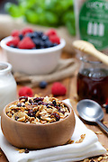 This was a styled shoot I created in my studio for Lucy's Granola out of Blue Hill Maine. She used this shot for collateral and banners for the Fancy Food Show in New York.