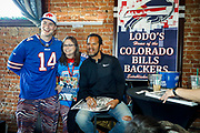 SHOT 12/10/17 12:51:00 PM - Former Buffalo Bills wide receiver and Hall of Fame player Andre Reed signs autographs and meets with fans at LoDo's Bar and Grill in Denver, Co. as the Buffalo Bills played the Indianapolis Colts that Sunday. Reed played wide receiver in the National Football League for 16 seasons, 15 with the Buffalo Bills and one with the Washington Redskins. (Photo by Marc Piscotty / © 2017)