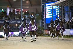Graves Laura, White-O'Connor Dawn, Perry-Glass Kasey<br /> Grand Prix Freestyle CDI5*- CHIO Rotterdam 2017<br /> © Hippo Foto - Sharon Vandeput<br /> 24/06/17