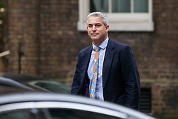 London, UK. 6th December, 2018. Stephen Barclay MP, Secretary of State for Exiting the European Union, arrives at 10 Downing Street for a special Cabinet meeting called to discuss the latest developments regarding Brexit.