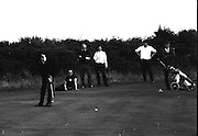 Hugh F. Boyle, (John Jacobs Golf Centre) putting at the Irish Dunlop £1,000 Tournament at Tramore Golf Club, Co. Waterford on the 19th August 1967.