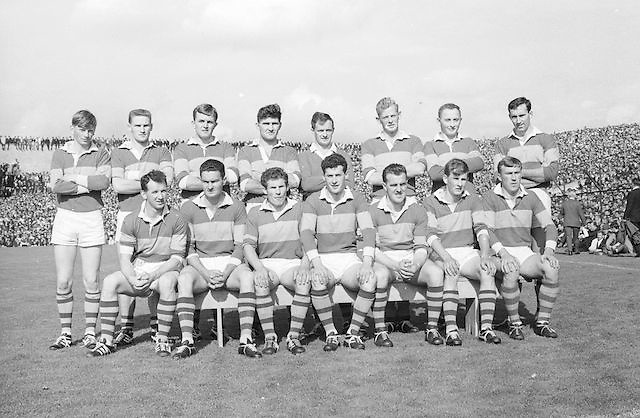 The Kerry team before the All Ireland Senior Gaelic Football Final Kerry v Down in Croke Park on the 22nd September 1968. Down 2-12 Kerry 1-13.<br />