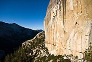 Chad Shepard on Goldfinger 5.12-, Tuolumne Meadows, Yosemite, CA