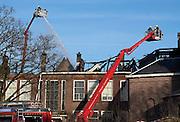 Nederland, Nijmegen, 1-1-2014Op nieuwjaarsdag brandde een deel van een voormalige school af waar studenten in wonen en ateliers voor kunstenaars zijn.Foto: Flip Franssen/Hollandse Hoogte