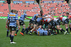 Johannesburg. 15-09-18 Emirates Airline Park. Rugby Currie Cup.  Lions vs Western Province(WP). Lions Hacjivah Dayimani  upright in a loose scrum during the second half. <br /> Picture: Karen Sandison/African News Agency(ANA)