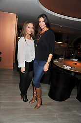 Left to right, LISA SNOWDON and CHLOE GREEN at a party to launch Senkai - London's first modern Japanese-inspired restaurant at 65 Regent Street, London on 26th October 2011.