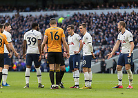 Football - 2019 / 2020 Premier League - Tottenham Hotspur vs. Wolverhampton Wanderers<br /> <br /> Eric Dier (Tottenham FC)  protests after Wolves score the equaliser at The Tottenham Hotspur Stadium.<br /> <br /> COLORSPORT/DANIEL BEARHAM