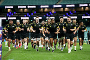 Hurricanes leave the field after the warm up. Waratahs v Hurricanes. 2021 Super Rugby Trans Tasman Round 1 Match. Played at Sydney Cricket Ground on Friday 14 May 2021. Photo Clay Cross / photosport.nz