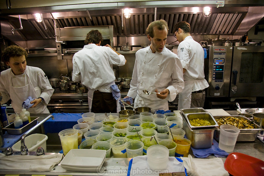 Chef Dan Barber at his Blue Hills Restaurant in New York City.  (Chef Dan Barber is mentioned in the book What I Eat: Around the World in 80 Diets.) .