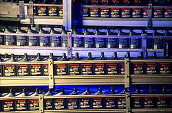 oil bottles on a production line