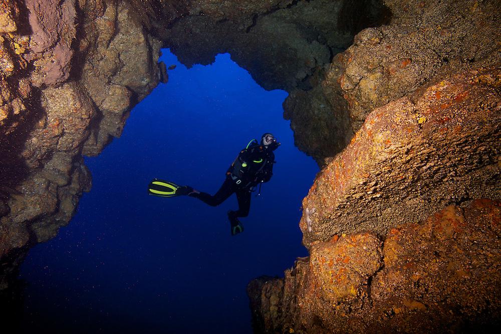 07/Abril/2014 Islas Canarias. El Hierro.<br /> Sus Anita con Buceo La Restinga.<br /> <br /> ©JOAN COSTA