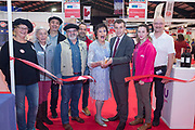 NO FEE PICTURES<br /> 25/1/19 Opening of the French Village pictured at the Holiday World Show 2019 at the RDS Simmonscourt in Dublin. Picture; Arthur Carron