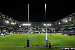 A general view of Liberty Stadium, home of Ospreys<br /> <br /> Photographer Simon King/Replay Images<br /> <br /> Anglo-Welsh Cup Round 4 - Ospreys v Bath Rugby - Friday 2nd February 2018 - Liberty Stadium - Swansea<br /> <br /> World Copyright © Replay Images . All rights reserved. info@replayimages.co.uk - http://replayimages.co.uk