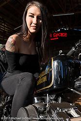 Kissa Von Adams at the Cycle Source Magazine show at the Broken Spoke Saloon during Daytona Beach Bike Week. FL. USA. Tuesday, March 14, 2017. Photography ©2017 Michael Lichter.