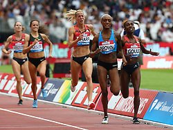 July 22, 2018 - London, United Kingdom - L-R Ce'Aira Brown of USA (winner) and Natoya Goule of Jamaica Compete in the 800m Women during the Muller Anniversary Games IAAF Diamond League Day Two at The London Stadium on July 22, 2018 in London, England. (Credit Image: © Action Foto Sport/NurPhoto via ZUMA Press)