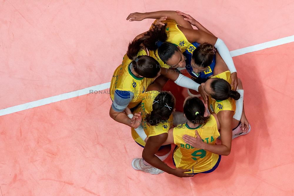 29-05-2019 NED: Volleyball Nations League Poland - Brazil, Apeldoorn<br /> Team Brazil
