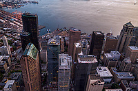 Above Downtown Seattle