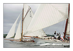 Day one of the Fife Regatta, Round Cumbraes Race.<br /> <br /> The Truant, Ross Ryan, GBR, Gaff Cutter 8mR, Wm Fife 3rd, 1910 and Latifa, 8, Mario Pirri, ITA, Bermudan Yawl, Wm Fife 3rd, 1936<br /> <br /> <br /> * The William Fife designed Yachts return to the birthplace of these historic yachts, the Scotland's pre-eminent yacht designer and builder for the 4th Fife Regatta on the Clyde 28th June–5th July 2013<br /> <br /> More information is available on the website: www.fiferegatta.com