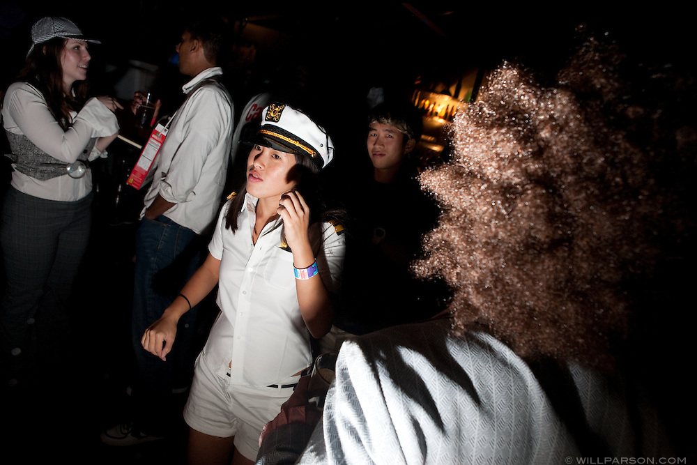 College students celebrate Halloween in San Diego, California at the UC San Diego campus.