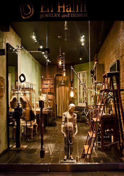Photograph of Eli Halili Jewelry & Design Boutique Store in Nolita.