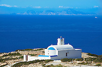 Grece, les Cyclades, ile de Donoussa, eglise de Mersini // Greece, Cyclades islands, Donoussa island, Mersini church