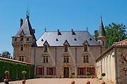 The medieval Chateau de Pressac main building Chateau de Pressac St Etienne de Lisse Saint Emilion Bordeaux Gironde Aquitaine France