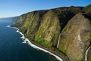 Waterfalls, North Kohala Coast, Big Island of Hawaii