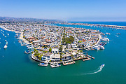 Aerial View of Balboa Island in Newport Beach