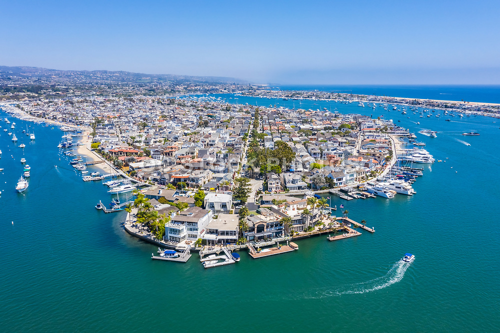 Aerial View of Balboa Island in Newport Beach