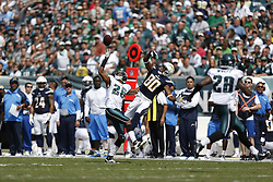 Philadelphia Eagles cornerback Cary Williams #26 gets his hand on a pass intended for San Diego Chargers wide receiver Malcom Floyd #80, Williams was called for pass interference on the play during the NFL game between the San Diego Chargers and the Philadelphia Eagles at Lincoln Financial Field in Philadelphia, Pennsylvania. The Chargers won 33-30. (Photo by Brian Garfinkel)