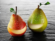 Fresh whole smile pears