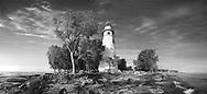 The Marblehead Lighthouse overlooling Lake Erie at Marblehead Ohio, USA