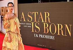 Zawe Ashton attending the UK Premiere of A Star is Born held at the Vue West End, Leicester Square, London.