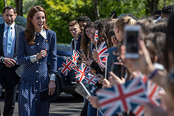 The Duchess of Cambridge during a visit to Bletchley Park to view a special D-Day exhibition in the newly restored Teleprinter Building.