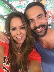 """Brooke Burke-Charvet releases a photo on Twitter with the following caption: """"""""We're live on FB in 2 min. Join us! All things healthy happy @jorgecruise come on over! #BBBsummer"""""""". Photo Credit: Twitter *** No USA Distribution *** For Editorial Use Only *** Not to be Published in Books or Photo Books ***  Please note: Fees charged by the agency are for the agency's services only, and do not, nor are they intended to, convey to the user any ownership of Copyright or License in the material. The agency does not claim any ownership including but not limited to Copyright or License in the attached material. By publishing this material you expressly agree to indemnify and to hold the agency and its directors, shareholders and employees harmless from any loss, claims, damages, demands, expenses (including legal fees), or any causes of action or allegation against the agency arising out of or connected in any way with publication of the material."""